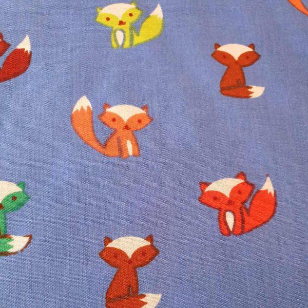 Cobalt Foxes – Cotton Poplin