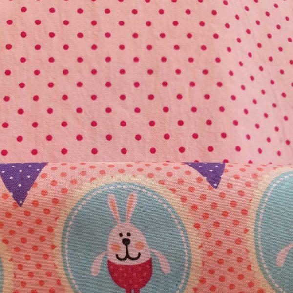 Dotty Spots Washed Pink – Cotton Poplin