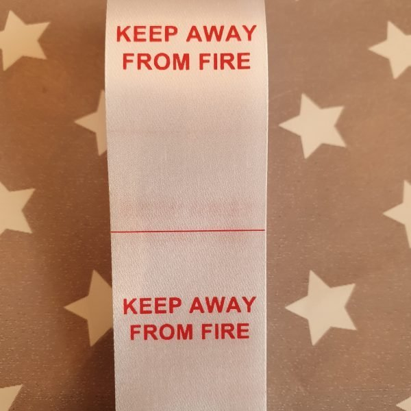 Keep Away From Fire Label