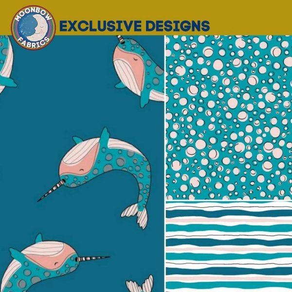 Narwhals fabric design bundle