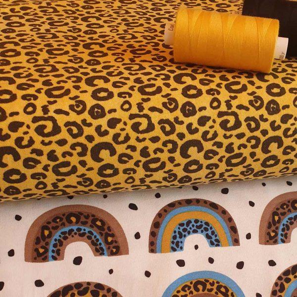 Ochre Leopard Print – Jersey