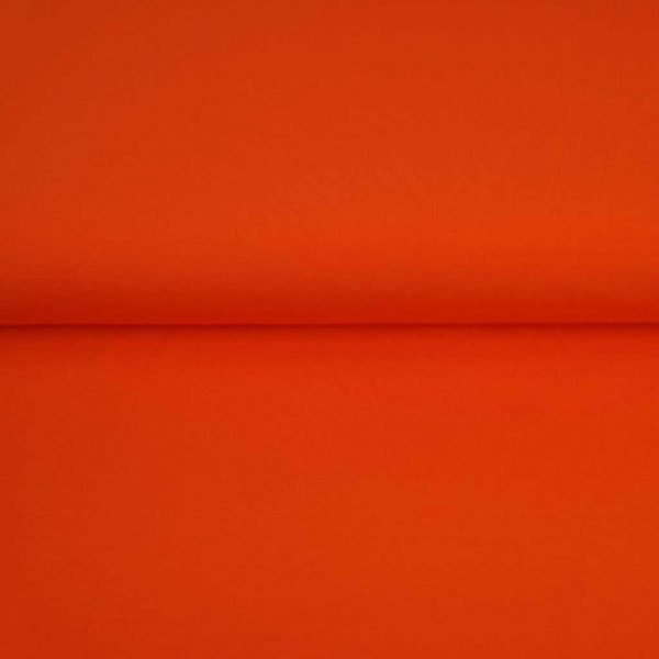 Orange solid jersey fabric