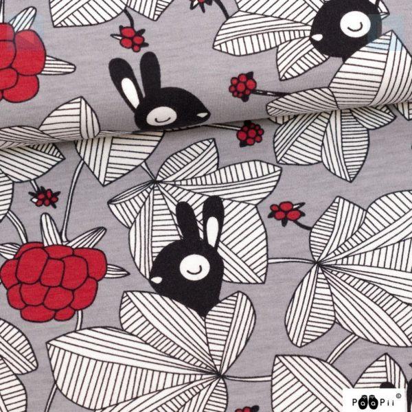 Hilda Grey/Red  – Organic Jersey