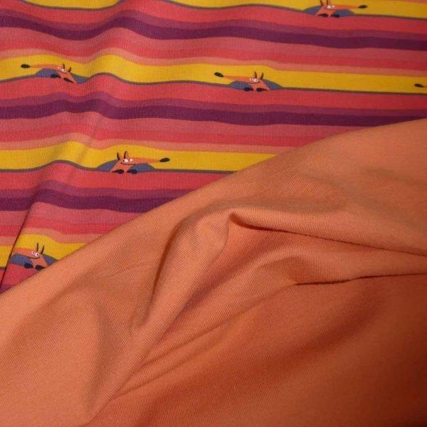 Peeping Foxes/Apricot Bundle – Jersey