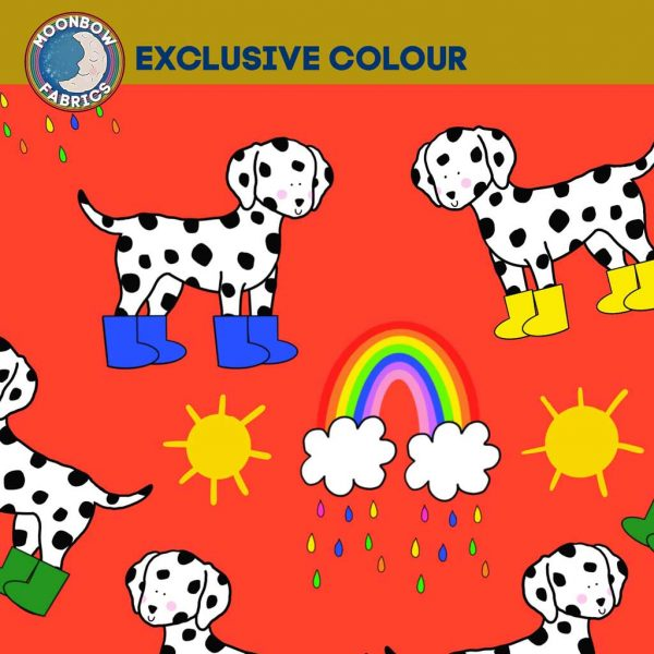 Dalmatians in Mud Boots – Red –  Exclusive Jersey