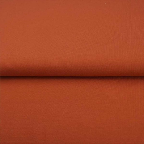 Rust solid jersey fabric